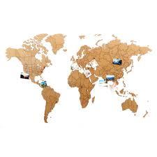 Карта мира <b>True Puzzle</b> 150х90 см коричневая