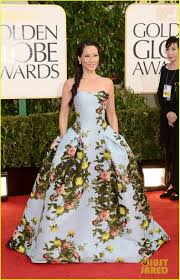 Pepsi Herrera Designs Lucy Liu Golden Globes 2013 Red Carpet Photo 2791024
