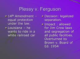 midterm essay topics presidential decisions supreme court  12 plessy v ferguson