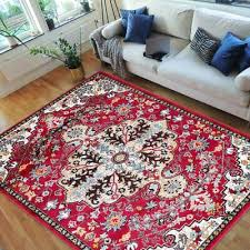 vibrant traditional persian area rug bright red turquoise multi