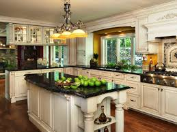 cool traditional granite countertops with white kitchen cabinets