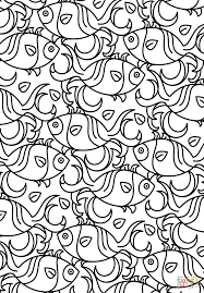 Small Picture Fish Pattern coloring page Free Printable Coloring Pages