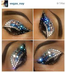 follow this amazing talented mua on insram name noted on image crystals either