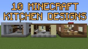 Minecraft Kitchen 10 Minecraft Kitchen Designs Youtube