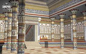 ... Unique Ancient Egyptian Architecture Interior Architectural View Of An Ancient  Egyptian Hall Rendered In ...