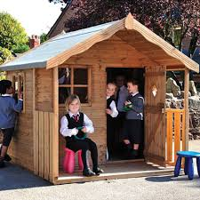childrens wooden playhouse den installed or supply only
