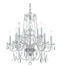 crystal and chrome chandelier ch cl traditional crystal light inch polished chrome chandelier ceiling light in