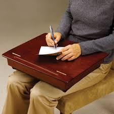 the wooden storage lap desk