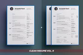 Clean Resume Cv Bundle Edition Vol 3 By The Resume Creator