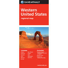 Folded Map Western United States