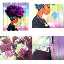 black girl shower curtain shower curtain attractive design ideas shower curtain women black w purple hair black girl shower curtain