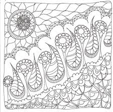 Small Picture Zentangle coloring pages free