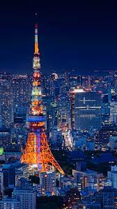 Tokyo Tower Japan Night Cityscape 4K ...