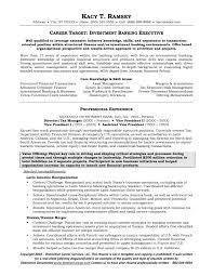 Resume Investment Banker Template Best Banking Sample Financial