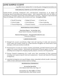 Employment Specialist Resume Unique Accounting Specialist Resume Sample Office Pinterest Sample