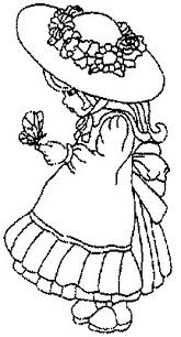 Lyontarotden Pretty Girl In A Hat Kids Coloring Pages