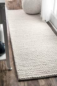 Off white area rug Dunkirk Handmade Nuloom Contemporary Solid Braided Runner Area Rugs 2 6quot Amazoncom Amazoncom Nuloom Contemporary Solid Braided Runner Area Rugs 2