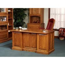 solid oak office desk. 860 executive desk amish oak office furniture made in usa solid