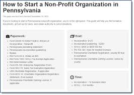 how to start a non profit organization in pennsylvania paperwork  how to start a non profit organization in pennsylvania paperwork cost and