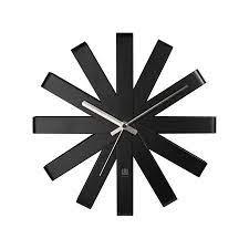 umbra ribbon wall clock black jonzara