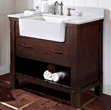 36 vanity with sink. Napa 36 Farmhouse Vanity - Aged Cabernet With Sink :