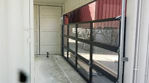 commercial glass garage door full view aluminum clear glass with modern commercial glass garage doors
