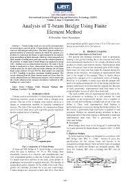 T Girder Bridge Design Example Pdf Analysis Of T Beam Bridge Using Finite Element Method