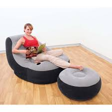 intex inflatable furniture. Intex 68564 Inflatable Sofa Ultra Lounge With Air-footstool Furniture