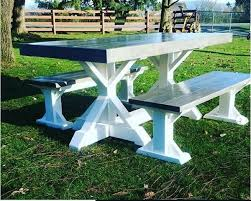 Trestle table with bench Dining Table Bunnings Warehouse Weathered Grey Trestle Table Benches Ninety 1st Supply Design