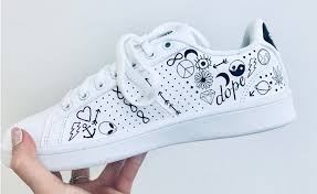 Diy Shoes Design Black White Pack Sneakers Black Sneakers Black White