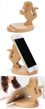 small wood projects for phone. cute wooden monkey cell phone tablet stand holder small wood projects for