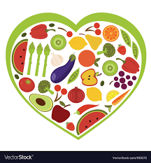 fruit and vegetables heart. Interesting Heart Fruit And Vegetables Heart Shape Vector Image On And Vegetables Heart