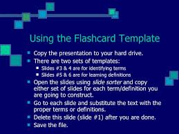 Flashcards Template