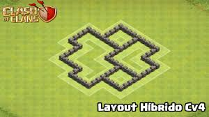 Layout H Brido Cv4 Hybrid Base Th4 Clash Of Clans Youtube