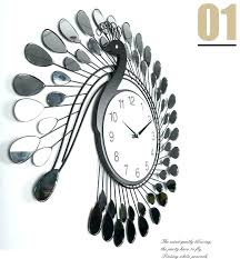 best wall clock fashion peacock design silent wall clock creative craft clocks for fashion peacock design