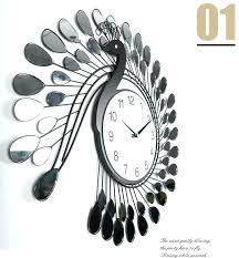 best wall clock fashion peacock design silent wall clock creative craft clocks for fashion peacock design