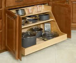 Appealing Kitchen Cabinet Pot Organizer : Captivating Kitchen Cabinet  Storage Organizers With Wooden Shelves And Natural Wooden Kitchen Cabi.