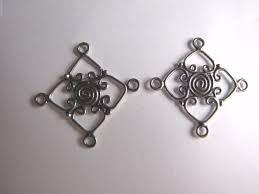 2 x bali 925 sterling silver chandelier earring findings connectors 30mm