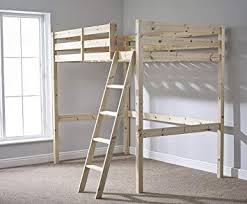 high double bed. Beautiful Double Double 4ft 6 Loft Bunkbed  Wooden High Sleeper Can Be Used By Adults In Bed F