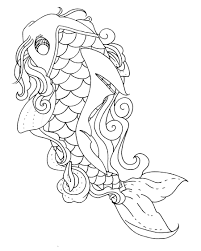 Small Picture Best Koi Fish Coloring Page 70 On Coloring Pages for Adults with
