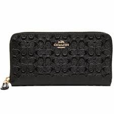 home coach accordion zip signature debossed patent leather wallet in black new arrival img 3794 jpg