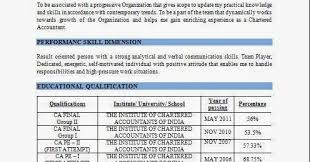 Professional Resume Format For Accountant In India