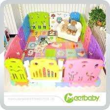 portable plastic baby safety gate funny play yard kmart