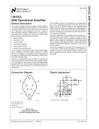 Design Aspects Of Monolithic Op Amps Lm 12 Cl Manualzz Com
