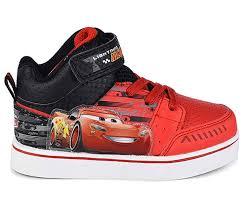 Cars Light Up Shoes Disney Pixar Toddler Boys Cars Lightning Mcqueen Red Black Light Up High Top Sneaker