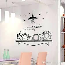kitchen wall sticker sweet kitchen have a nice day wall sticker decoration wall art murals black kitchen wall sticker