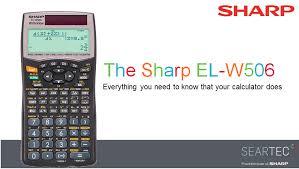 new sharp el w506 manual