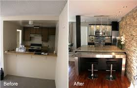 image of inexpensive kitchen remodel before and after