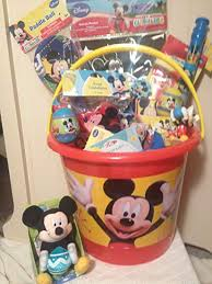 disney mickey mouse jumbo filled gift basket bucket perfect for easter birthdays holidays