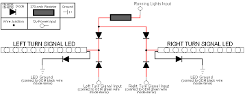 how to add running lights and turn signals to tow mirrors ford the first picture is not labeled very well but there are 2 diodes and 1 resistor i used the first diagram since i installed the wiring in my doors
